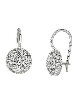 Lord & Taylor  - Diamond Drop Earrings in White Gold