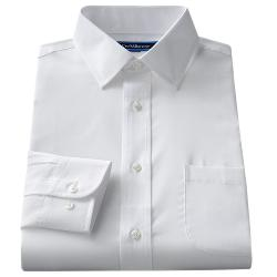 CROFT & BARROW - Classic-Fit Solid Easy-Care Spread-Collar Dress Shirt