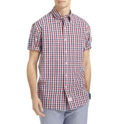 Izod - Short-Sleeve Multi-Checked Woven Shirt