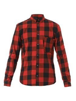 MCQ Alexander McQueen - Raw-Pocket Checked Shirt