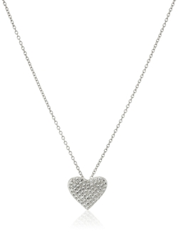 Crislu - Heart Pave Pendant Necklace