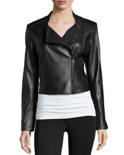 Vakko - Leather Combo Biker Jacket