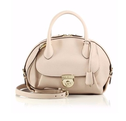 Salvatore Ferragamo  - Fiamma Pebbled Leather Satchel Bag