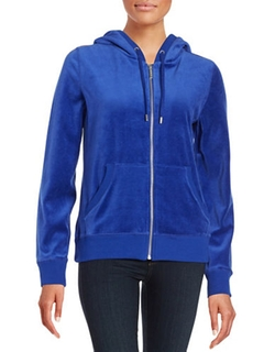 Michael Michael Kors - Velour Zip-Up Hoodie Jacket