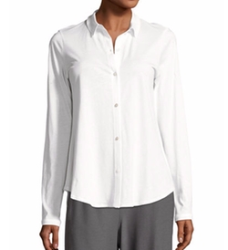 Eileen Fisher - Classic Collared Cotton Shirt