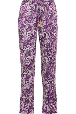 Paloma Blue - Venice Printed Silk Tapered Pants