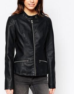 JDY - Eather Look Biker Jacket