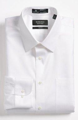 Nordstrom Smartcare - Trim Fit Twill Dress Shirt