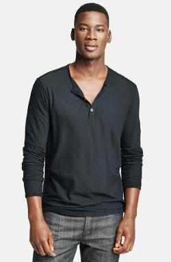 John Varvatos  - Collection Jersey Cotton Henley