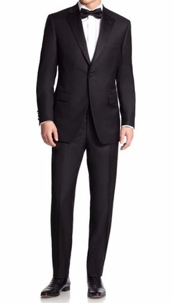 Saks Fifth Avenue Collection - Samuelsohn Notched Lapel Wool Tuxedo