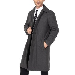 Alpine Swiss  - Mens Wool Trench Coat Knee Length Overcoat
