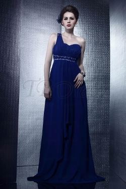 Tb Dress - Empire One-shoulder Evening Dress