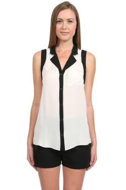 Parker   - Open Back Button Down Top