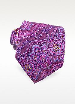 KEN SCOTT  - Paisley Printed Silk Tie