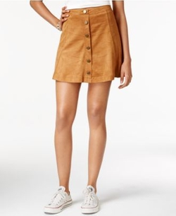 American Rag - Faux-Suede A-Line Skirt
