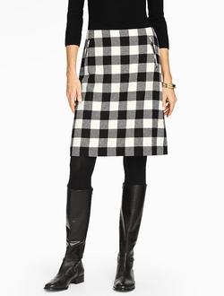 Talbots - Bold Buffalo Plaid A-Line Skirt