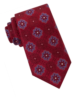 Ike by Ike Behar - Exploded Flower Medallion Silk Tie