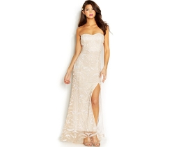 Jump Juniors - Strapless Beaded Gown