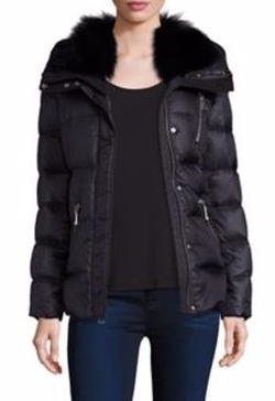 Andrew Marc - Fox Fur Collar Down Puffer Jacket