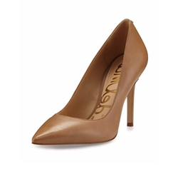 Sam Edelman - Hazel Pointed-Toe Leather Pumps