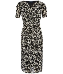 Viyella  - Burnout Floral Jersey Dress