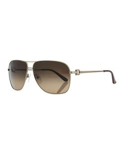 Salvatore Ferragamo - Navigator Metal Sunglasses