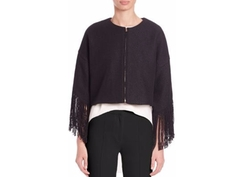 ADAM by Adam Lippes - Adam Lippes Cropped Fringe-Trim Jacket