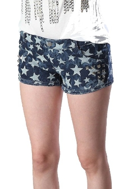 Fourever Funky - Vintage Washed Cut-Off Denim Short