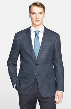 Armani Collezioni  - Trim Fit Check Sport Coat