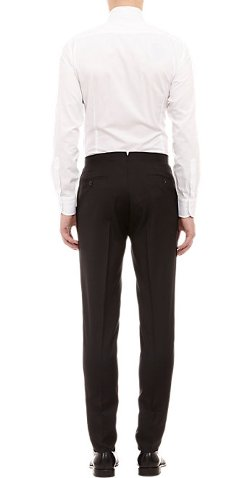 Barneys New York - Piped Wool Gabardine Trousers