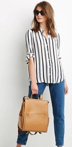 Forever 21 - Gradated Stripe Chiffon Shirt