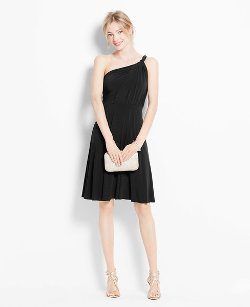 Ann Taylor - Jersey One Shoulder Bridesmaid Dress
