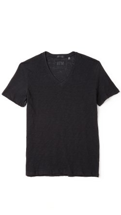 ATM Anthony Thomas Melillo  - V Neck Slub Jersey T-Shirt