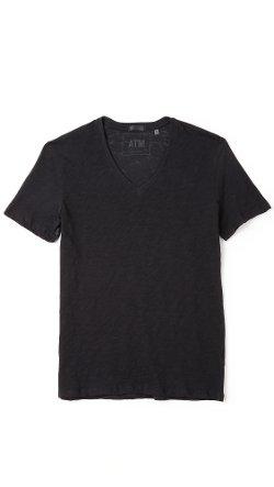 ATM Anthony Thomas Melillo  - V Neck Slub Jersey T-Shirt