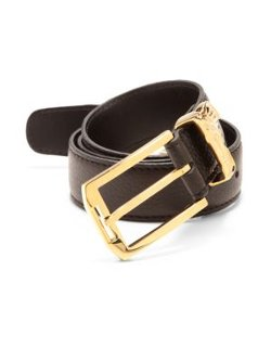 Versace Collection - Medusa Logo Leather Belt