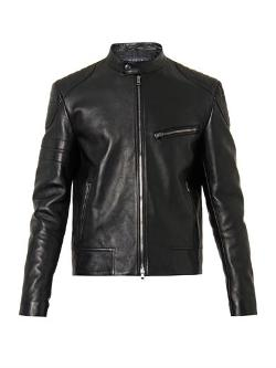 Gucci  - Leather And Wool Jacket