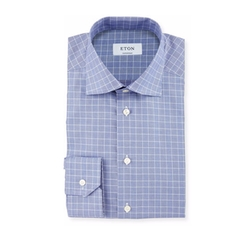 Eton - Glen-Plaid Check Dress Shirt