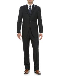 Hickey Freeman - Two-Piece Pinstripe Suit, Navy