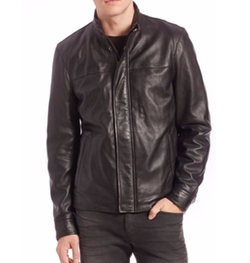 Saks Fifth Avenue Collection - Modern Leather Jacket