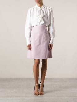 RALPH LAUREN VINTAGE  - ruffled blouse