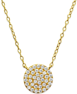 Giani Bernini  - Cubic Zirconia Circle Pendant Necklace