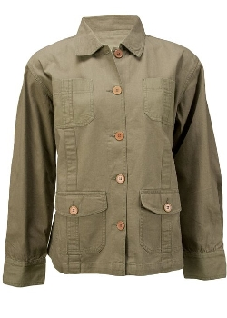 LabelShopper  - Canvas Cotton Button Up Jacket