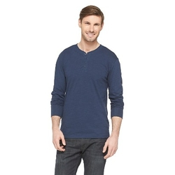 Jeffrey Max - Long Sleeve Henley Shirt