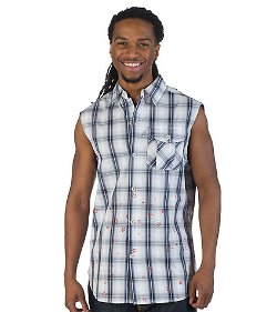 Essentials - Sleeveless Patriot Button Up Shirt