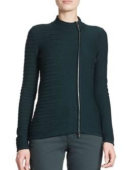 Armani Collezioni  - Zip Virgin Wool Cardigan