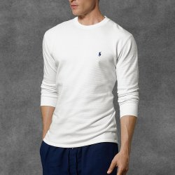 Ralph Lauren - Waffle-Knit Crewneck Thermal Sweater