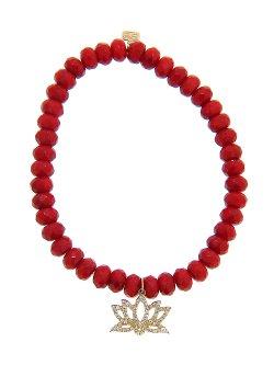 Sydney Evan  - Red Coral Bead Bracelet