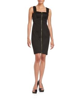 Calvin Klein - Front Zip Sheath Dress