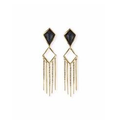 Alexis Bittar  - Kite Fringe-Drop Clip-On Earrings