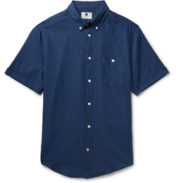 NN.07 - New Derek Slim Fit Cotton-Voile Shirt